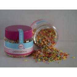 Pot de décors sucrés mini confettis colorés - Ø 4 mm - 90gr - SweetKolor