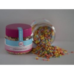 Pot of sweet decorations mini colored stars - 6 mm - 90gr - SweetKolor