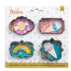 set 4 emportes-pièces  mini cadres - Decora
