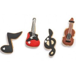 set 4 cookie cutter music - Decora