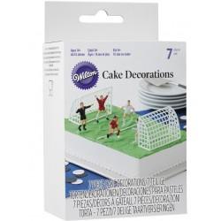 7 accessoires déco foot pour gâteau Wilton