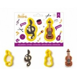 "set 2 cookie cutter ""sol key and violin"" - Decora"
