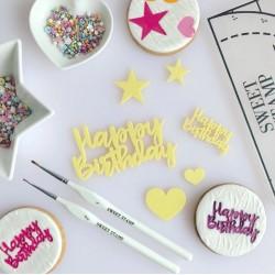 """embosseur """"Happy Birthday Elements"""" / éléments joyeux anniversaire - Sweet Stamp Amycakes"""