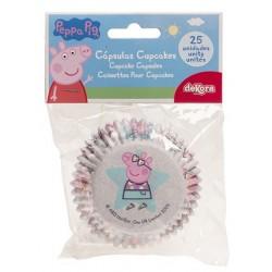 caissettes à cupcake  papier - Peppa Pig - 25pcs - 7 x 3 cm - Dekora
