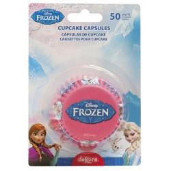 caissettes à cupcake  papier - Reine des Neiges - 50pcs - 7 x 3 cm - Dekora