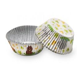 caissettes à cupcake  papier - animaux de la jungle - 100pcs - 5 x 3 cm - Dekora