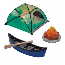 Decorative set - camping - 4 pieces - Culpitt