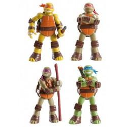 Figurine en plastique - les Tortues Ninja - 4 pièces - Dekora