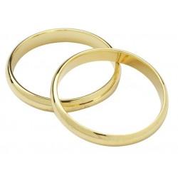 Bagues de mariage couleur or - 18mm - Culpitt