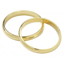Gold Colour Wedding Rings - 17mm - Culpitt