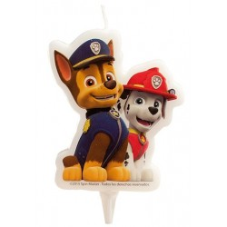 candle  Paw Patrol - Chase & Marshall  - 2D - 6.50 cm - Dekora