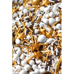 "Décorations en sucre sprinkles ""GOLDEN S'MORE"" - 100g - Fancy Sprinkles"