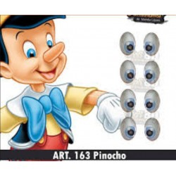 "adhesive eyes resined 3D ""M"" - 163 - 12 pairs - Mariela Lopez"