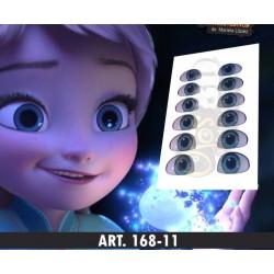 """yeux adhésifs 3D en résine """"M"""" - 168-11 - 12 paires - Mariela Lopez"""