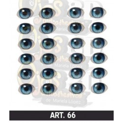 "adhesive eyes resined 3D ""M"" - 066 - 12 pairs - Mariela Lopez"
