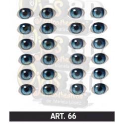 """yeux adhésifs 3D en résine """"M"""" - 066 - 12 paires - Mariela Lopez"""