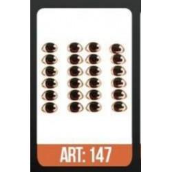 """yeux adhésifs 3D en résine """"M"""" - 147 - 12 paires - Mariela Lopez"""