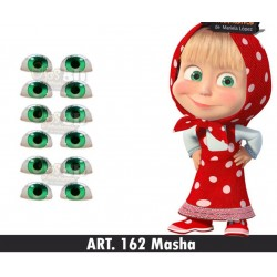 "adhesive eyes resined 3D ""M"" - 162 - 12 pairs - Mariela Lopez"