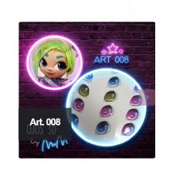 "adhesive eyes resined 3D ""M"" - 008 (Modelar un Mundo) - 12 pairs - Mariela Lopez"