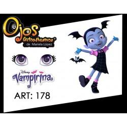 "adhesive eyes resined 3D ""M"" - 178 - 12 pairs - Mariela Lopez"