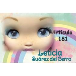 """yeux adhésifs 3D en résine """"M"""" - 181 Chico (Leticia Suarez) - 12 paires - Mariela Lopez"""