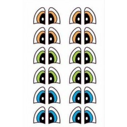 """yeux adhésifs 2D """"M"""" - 007 - 6 paires - Mariela Lopez"""