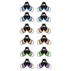 """yeux adhésifs 2D """"M"""" - 061 - 6 paires - Mariela Lopez"""