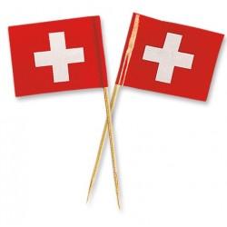 mini Swiss flag topper - 88 x 50 x 2 mm