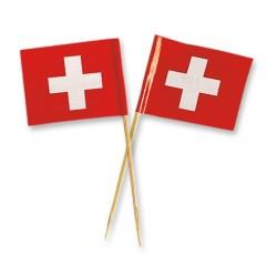 mini Swiss flag topper - 75 x 37 x 2 mm