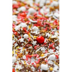 "Sugar decoration sprinkles - ""PEPPERMINT HOT COCOA"" - 100g - Fancy Sprinkles"