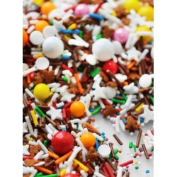 "Sugar decoration sprinkles - ""GINGERBREAD HOUSE"" - 100g - Fancy Sprinkles"