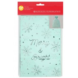 "6 treat bags - ""Merry & Bright"" - Wilton"