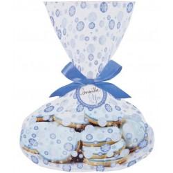 3 plateaux et sacs à biscuits- étoiles de neige - Wilton