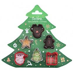 "set 6 mini cookie cutters ""christmas"" - Decora"