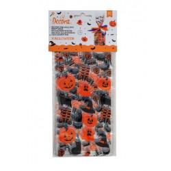20 Halloween bags - pumpkin - Wilton - 12,5 x 3 x 24 cm