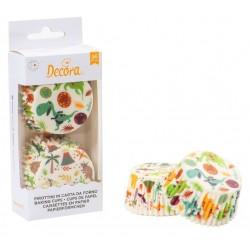 """Caissettes à cupcake """"dinosaure"""" - 36p - 50 x 32 mm - Decora"""