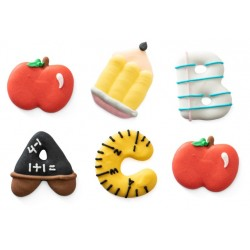 "Sugar decoration ""school"" - 6 pieces - Decora"