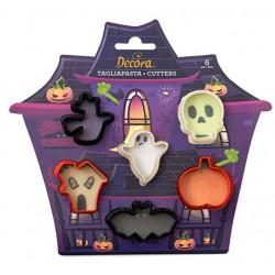 "set 6 mini cookie cutters ""halloween"" - Decora"