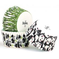 "Baking cup ""panda"" - 75p - 50 x 32 mm - Decora"