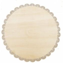 support en bois et dentelle pour cakes Ø 29 cm  - ScrapCooking
