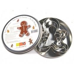 "set 3 cookie cutter ""little man gingerbread"" - ScrapCooking"
