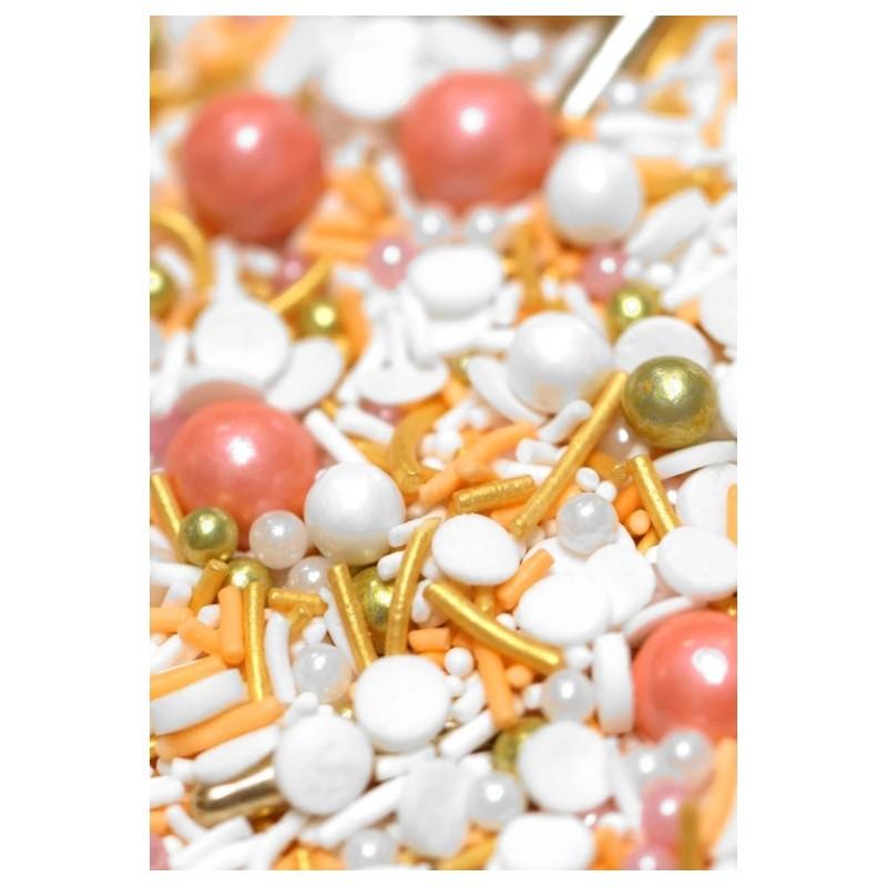 Nouveau 4MM blush ivoire perle sucre boules cupcake sprinkles cake topper décorations
