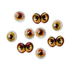 assortiment de 96 yeux de monstre, chocolat noir -  Günthart