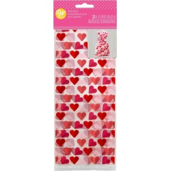 "20 ""hearts"" confectionery bags - Wilton"