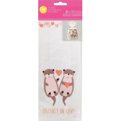 """20 """"utterly in love"""" confectionery bags - Wilton"""