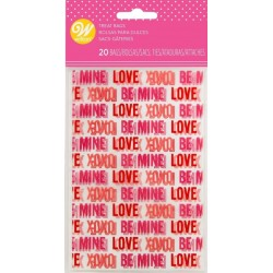 """20 mini confectionery bags - """"love"""" - Wilton"""