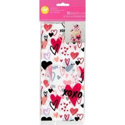 "30 ""Valentine"" confectionery bags - Wilton"