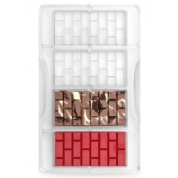 """moule à chocolat """"tablette brique"""" - Decora"""