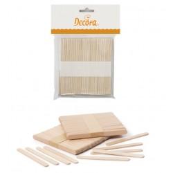 bâtons d'esquimaux en bois - 100 pièces - Decora