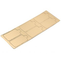 mini cardboard gold - rectangle - 9 x 5.5 cm